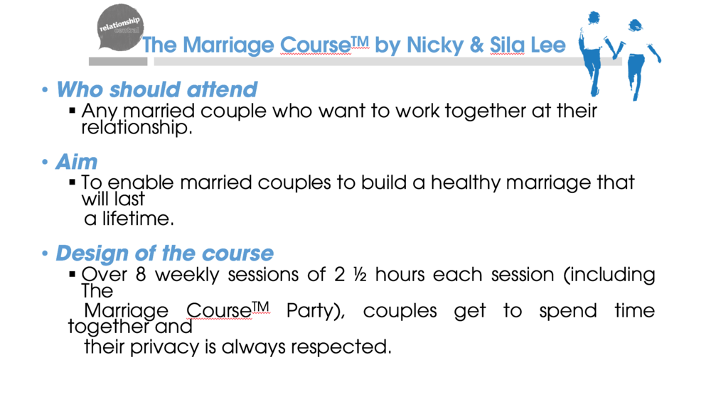 The Marriage Course power point slide   (Click to download)