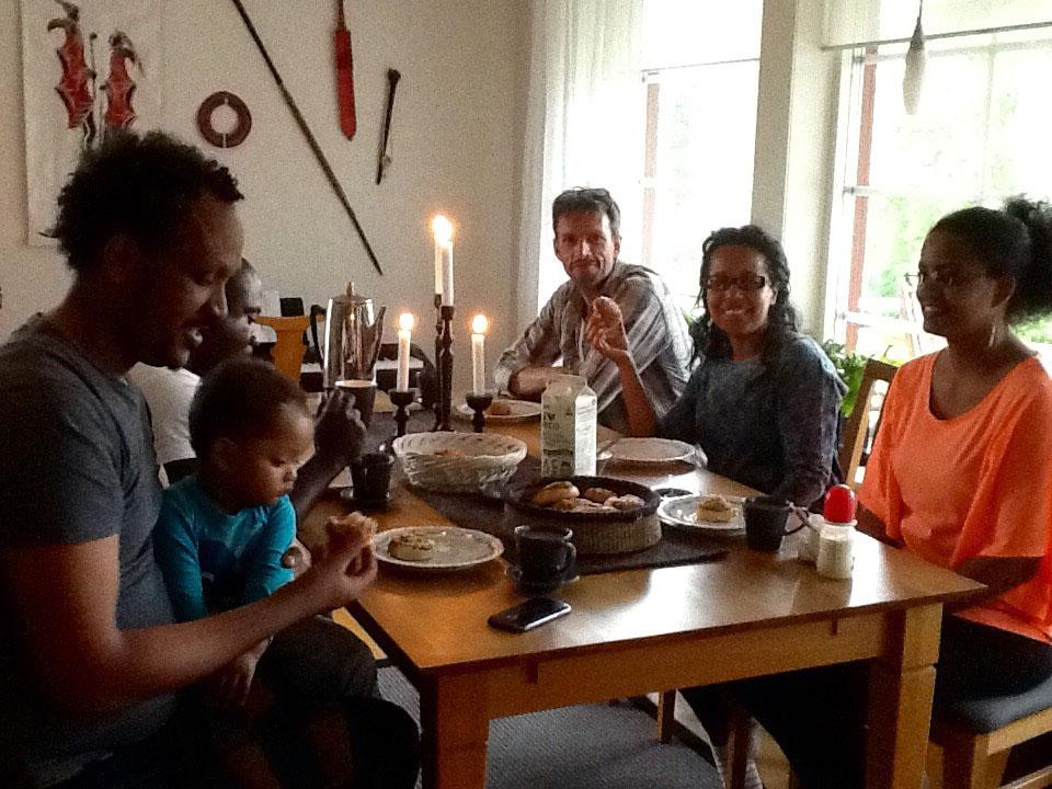 Så här ser det ofta ut på helgerna hemma hos familjen Davidsson.