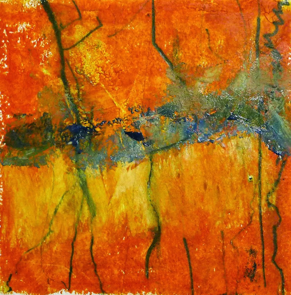 Artist Kathy Elliott   http://kathyelliottart.blogspot.com  #oilandcoldwax # abstractart