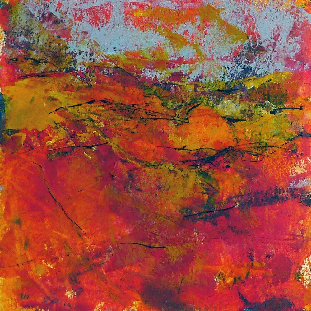 Heather Artist Kathy Elliott   http://kathyelliottart.blogspot.com  #oilandcoldwax # abstractart