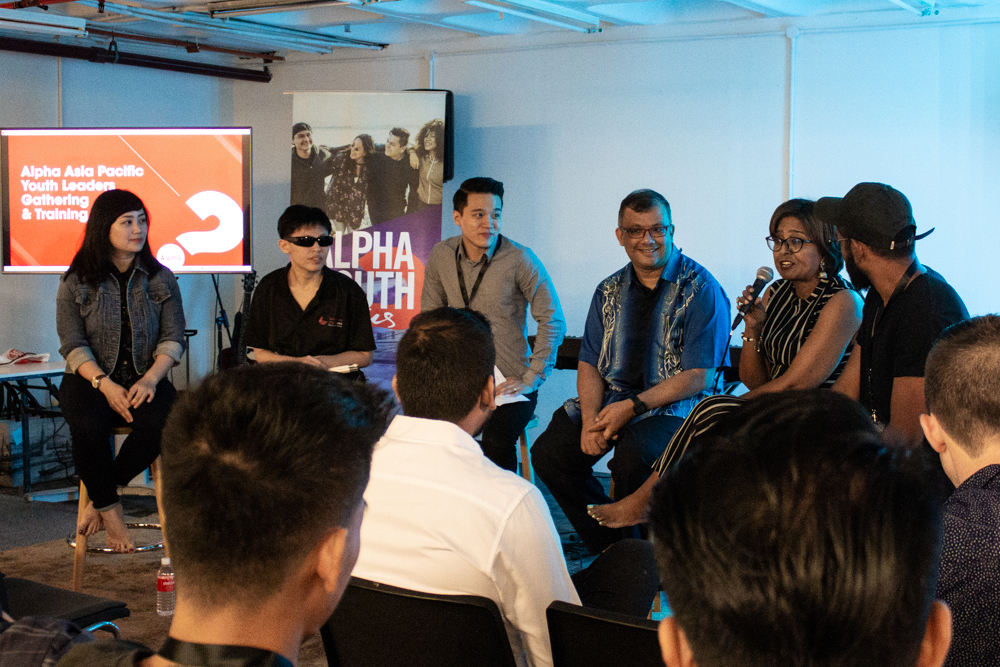 Panel session with youth ministers and workers