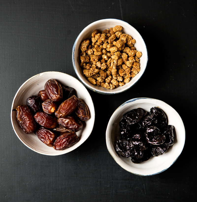 This month our recipesfocus on dried fruit.