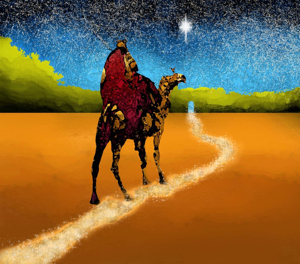 the way to Bethlehem / digitally painted photo/Jennifer Neal copyright 2012