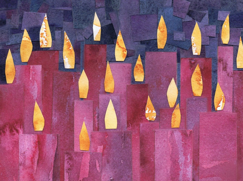Light for Waiting / Watercolor on cut paper / Jennifer Neal copyright 2012