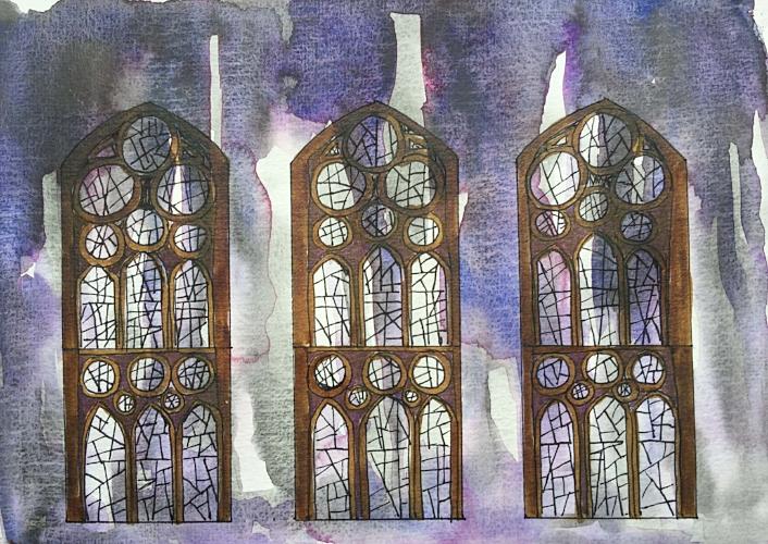 Sagrada Familia sketch ©Jennifer Neal 2017