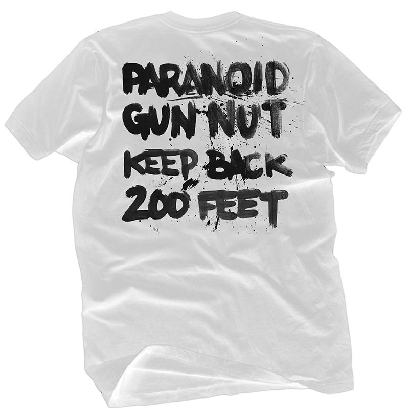 Paranoid & Armed Tee - $25