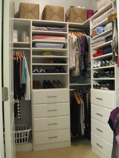 Live With Less organized closet