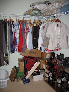 Live With Less declutter and organize closet