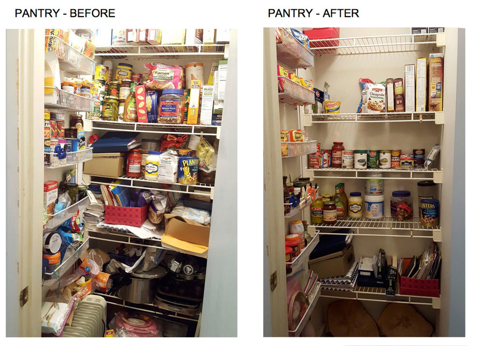 pantry before and after organization