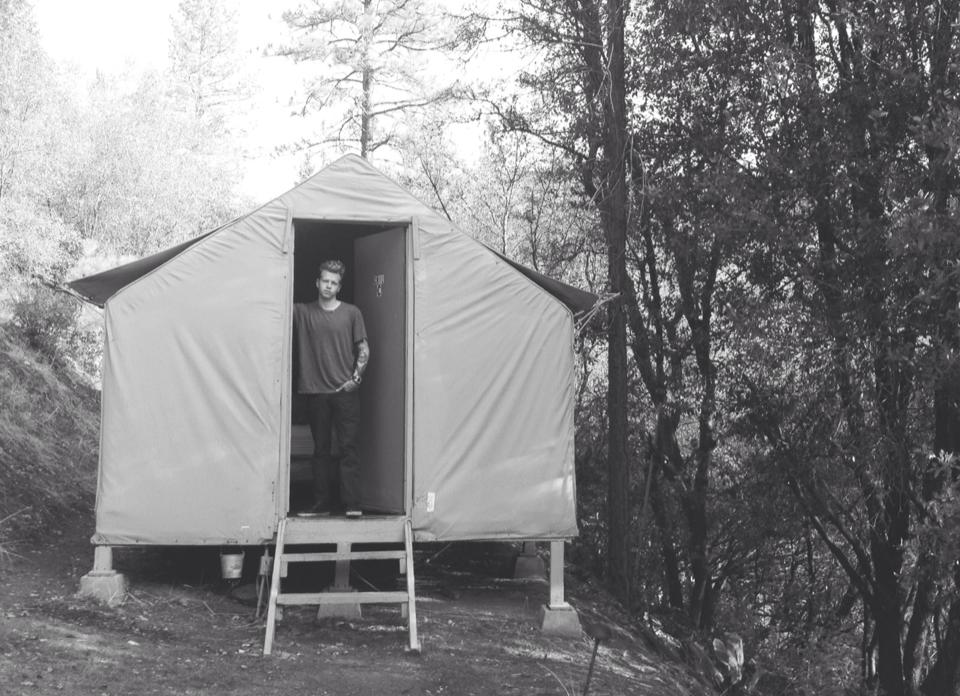 Our little tent cabin