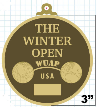 This is the Medal which will be awarded at the 2015 WUAP-USA Winter Open