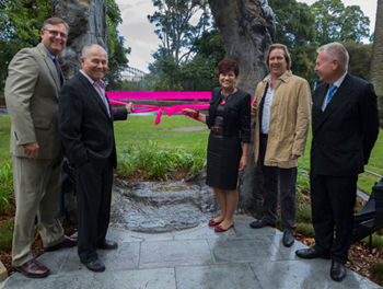 U.S. Consul General Niels Marquardt, Neil Balnaves of the Balnaves Foundation, Environment Minister Robyn Parker, David Handley, Founding Director, Sculpture by the Sea, Professor David Mabberley, Executive Director, Royal Botanic Gardens and Domain Trust.