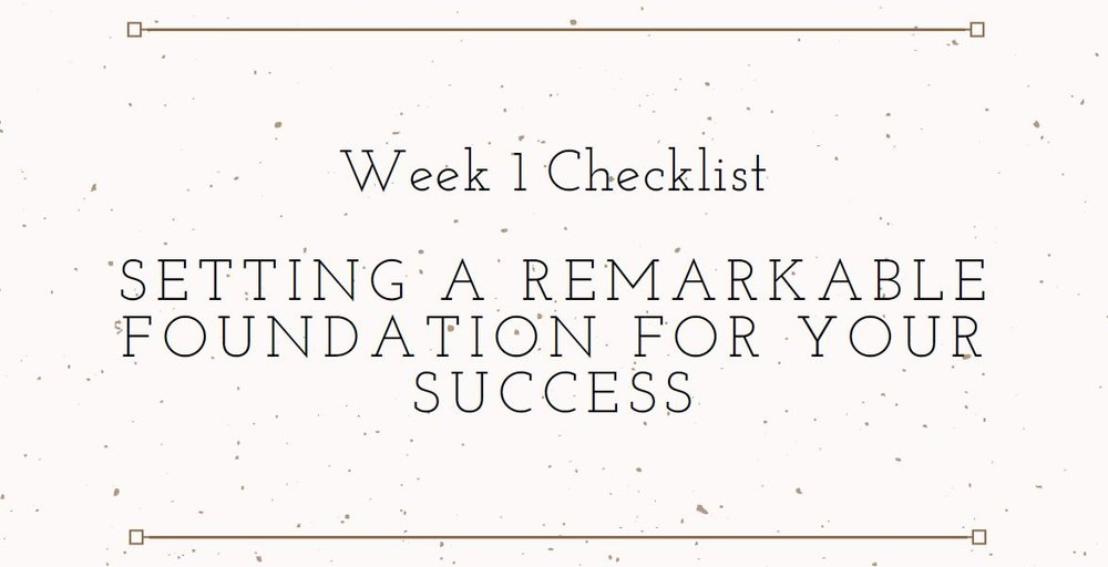 Elemental Business Incubator Week 1 Checklist Download