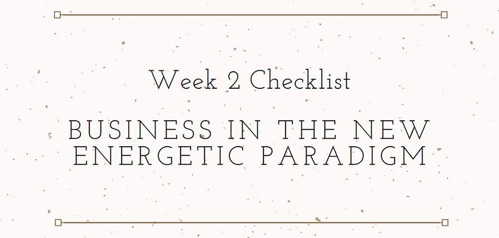 Elemental Business Incubator Week 2 Checklist Download