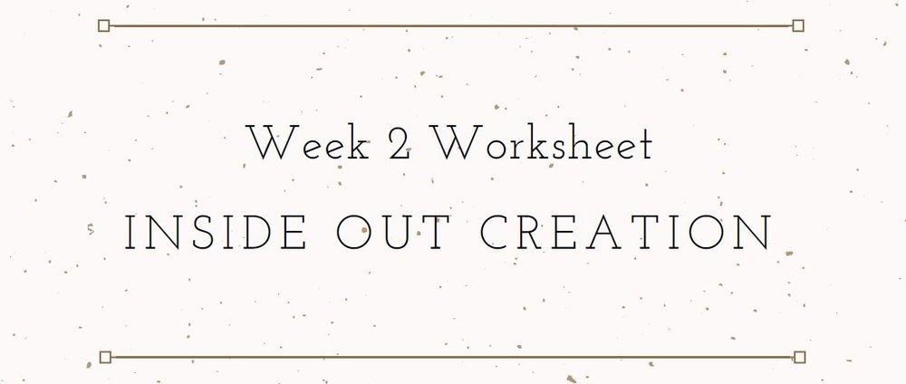 Elemental Business Incubator Week 2 Worksheet Download