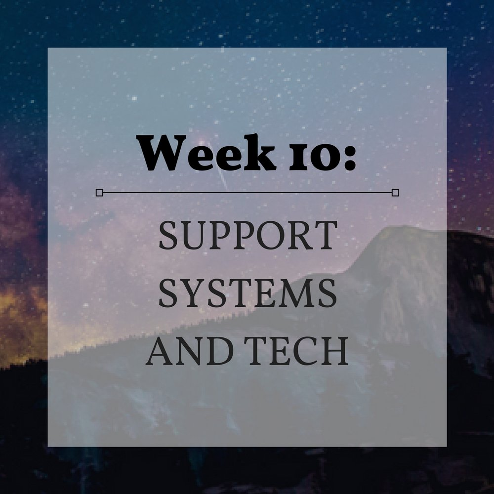 Week 10 Support Systems and Tech