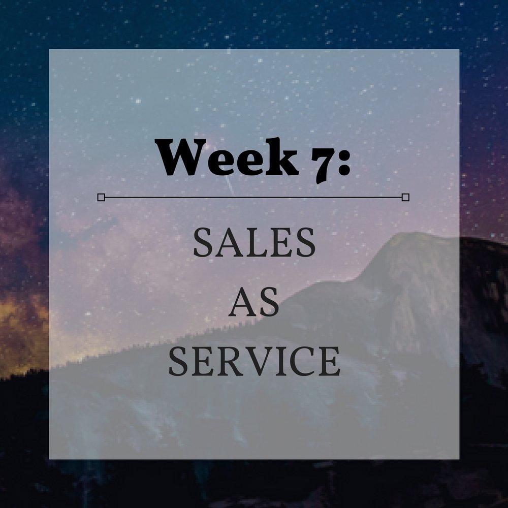 Week 7 Sales as Service