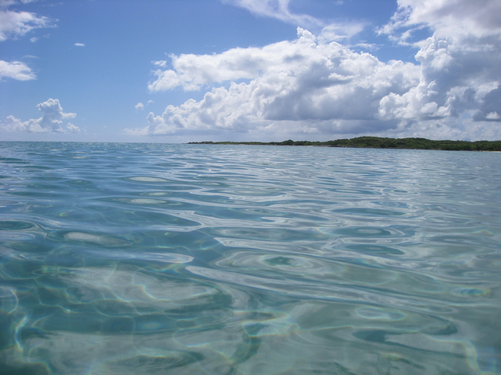 For me, the Caribbean is defined by water - to capture the feeling of calm translucence I wade out into the water and shoot low