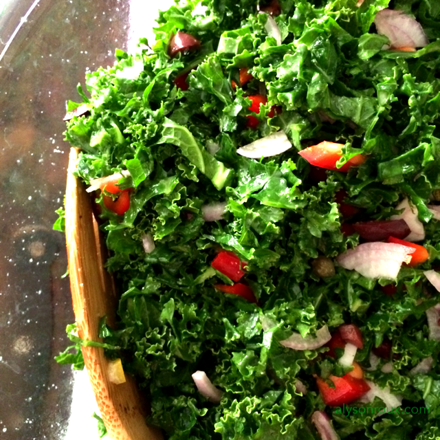 Start with a basic dinner side salad recipe.
