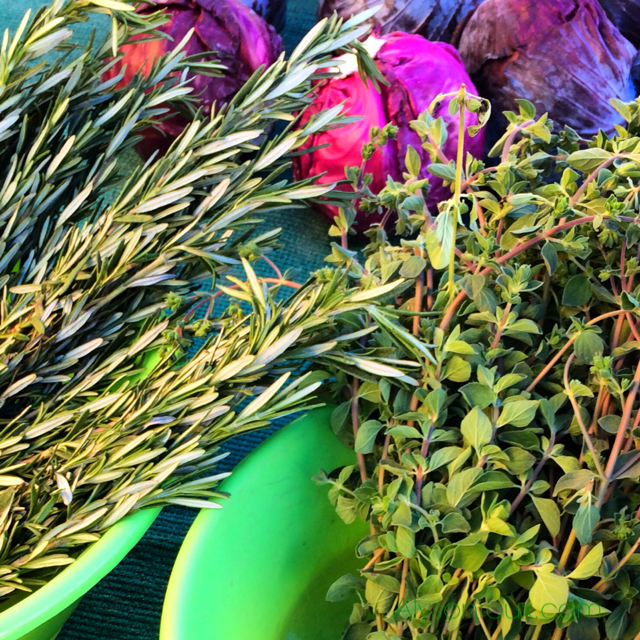 Organic herbs at the Atwater Village Market in Northeast Los Angeles. Every Sunday starting at 10:30am.