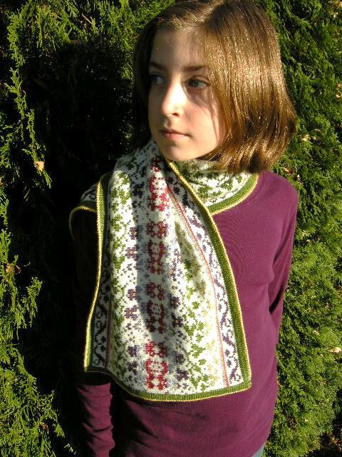 Violets (scarf)
