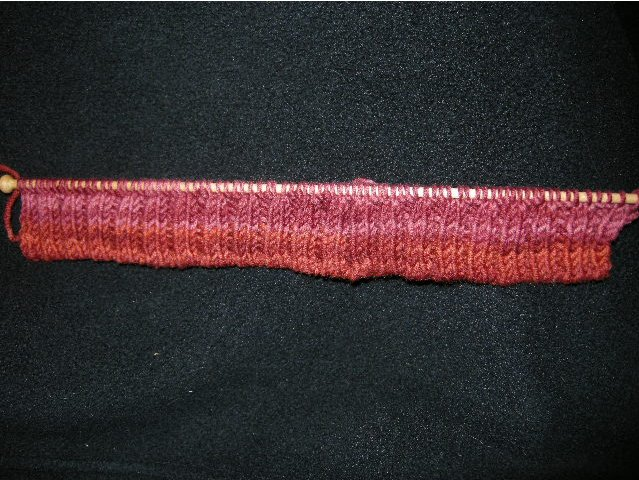 Totally elastic tubular edge, with no visible cast on loops at lower edge.