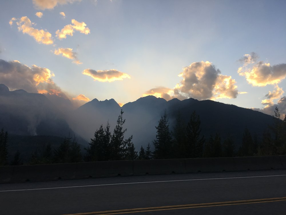 Wildfires in Glacier National Park (British Columbia)