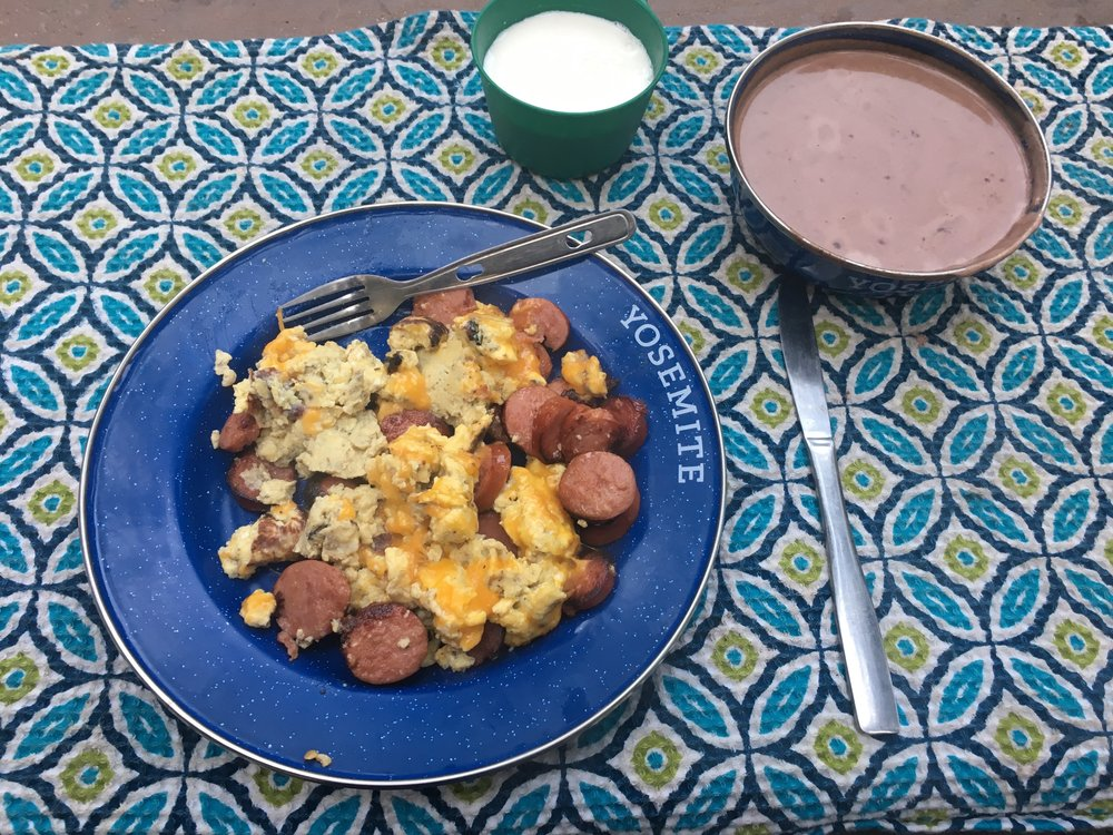 My high calorie breakfast the next morning, courtesy of Emily.