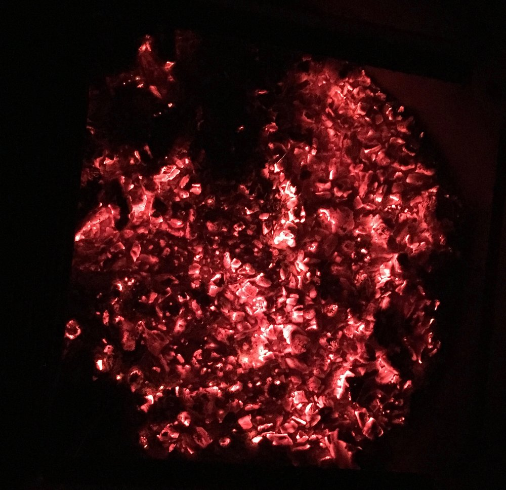 I built this gorgeous fire while Erik was overnighting on El Cap