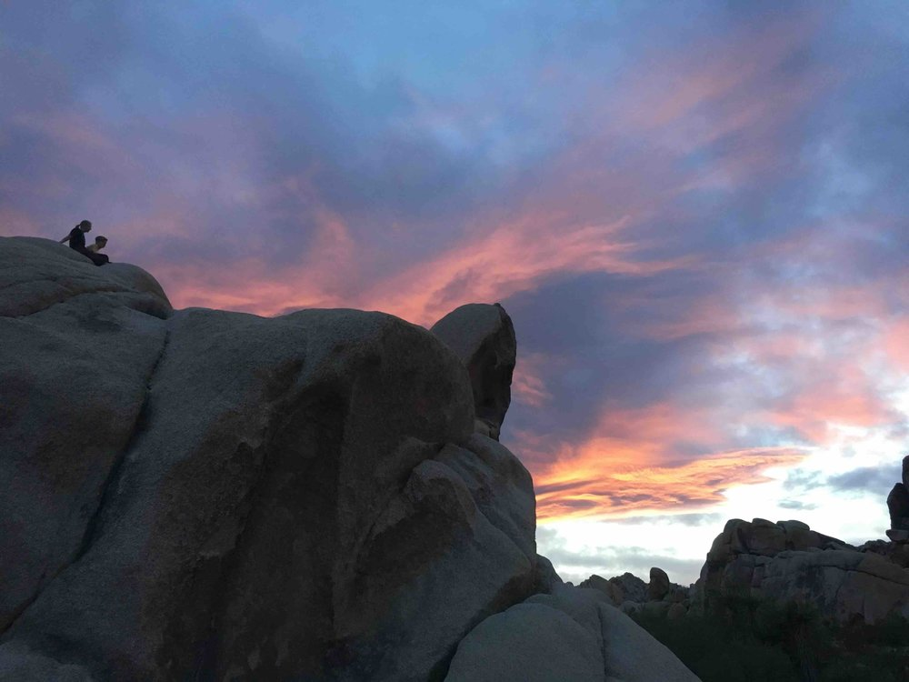 Sunset at Joshua Tree. Spin off from the rain storms up north.