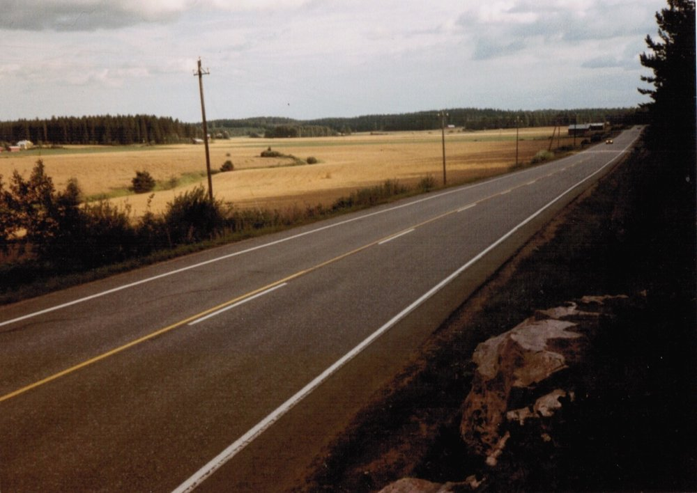 The old highway from Lahti to Helsinki.