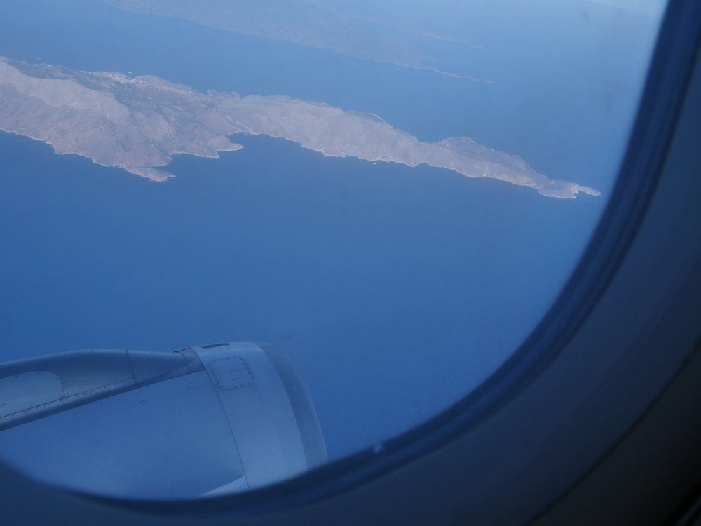 Looking out over the Greek Islands we'd sailed past the week prior.