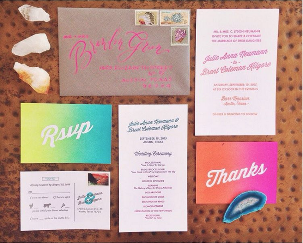 Brent + Julie's invitations