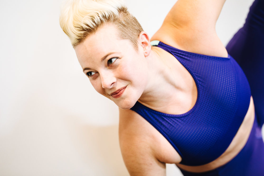I'm  Natalie Carey  and I'm the personal trainer and hairdo behind Barbell Blondie. I believe that fitness should be open to all bodies, and my workouts, nutrition guidance, and content reflect that.  I am an author, an original Tonal Coach, a regional pole dancing champion, and I enjoy champagne and gummy bears as much as weight lifting and protein shakes.