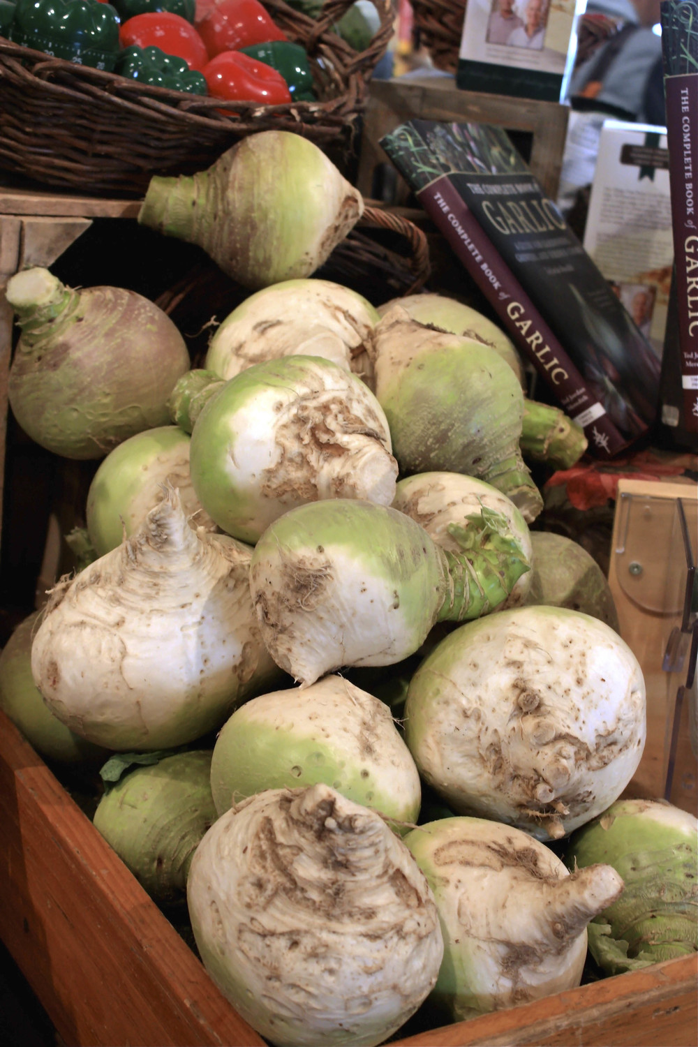 REALLY BIG turnips at Schoharie Valley Farms.