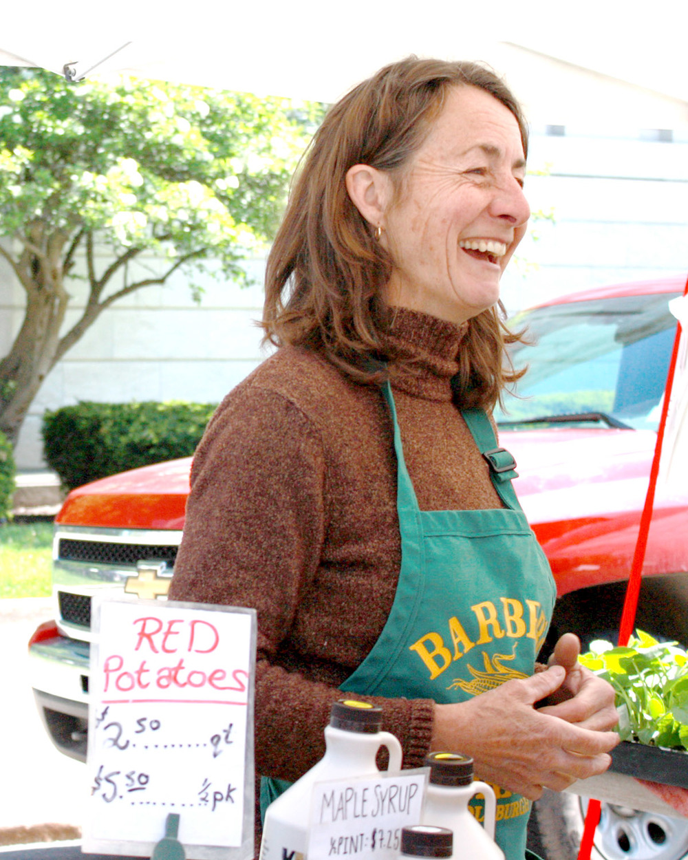 Barber Farms is one of our first stops at the Schenectady Greenmarket every Sunday.