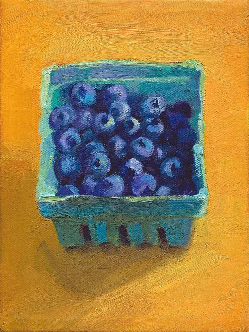Blueberries on Gold