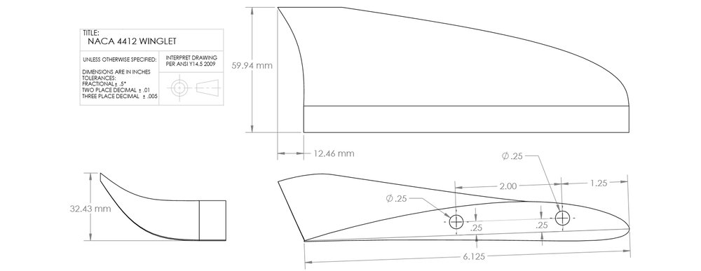 3-View Winglet Drawings
