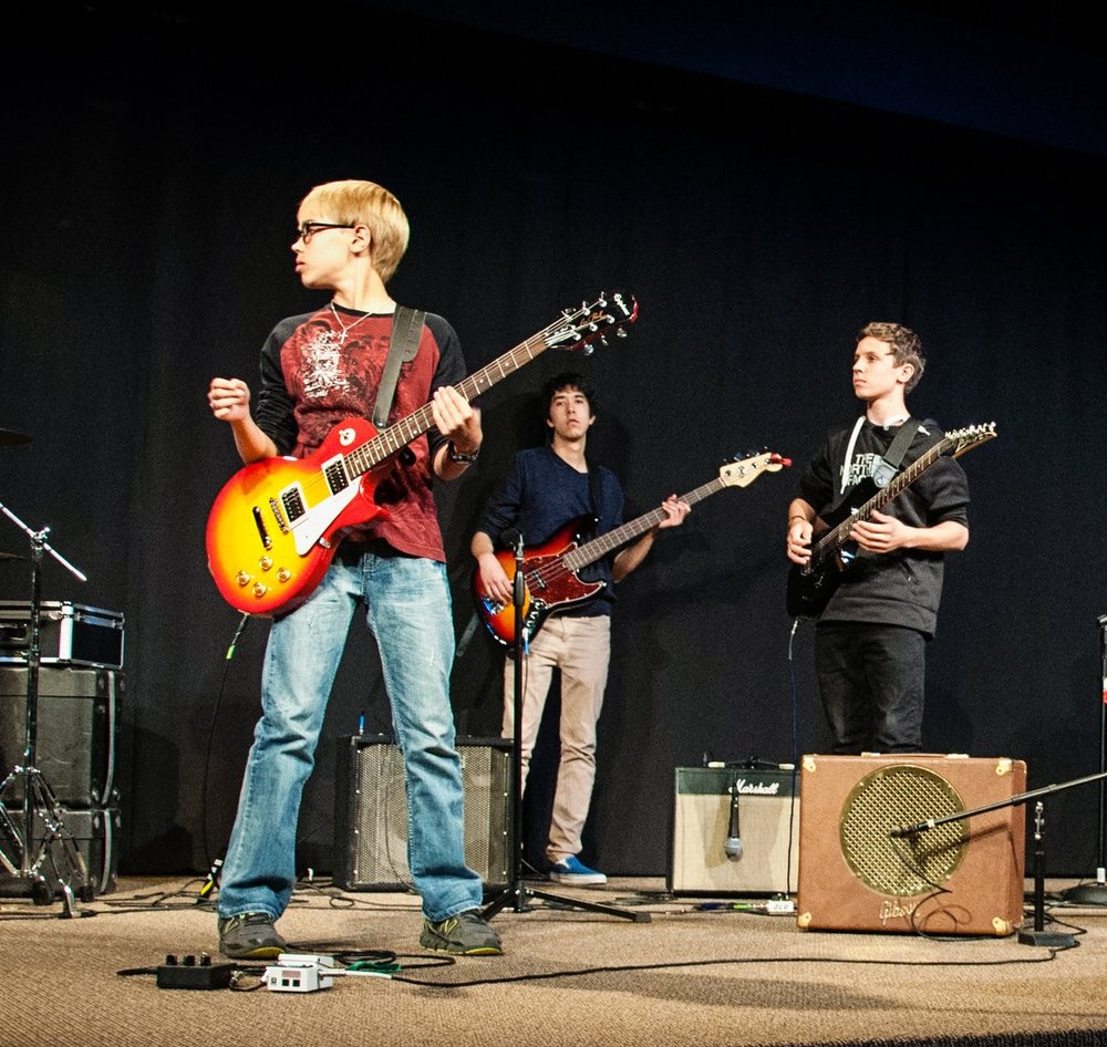 Potential Bands: - - Praise and Worship- Rock Shop 101 (Younger Students and Beginners)- Rock Shop 102 (Intermediate)Spaces are limited! The Rock Shop is $80 a month ($70 if you pay for all four months up front) so click the button above to join. Please include what instrument your child plays and their top two choices of bands to join.