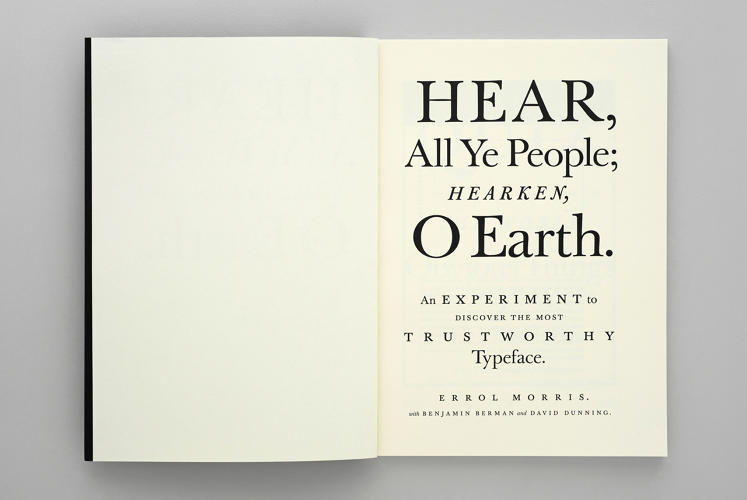 The results of Morris's experiment were published online in a two-part essay called  Hear, All Ye People; Hearken, O Earth!  and have now been put into print, as the 44th edition of the Pentagram Papers.