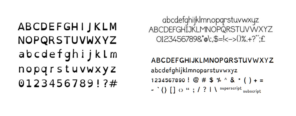 Nathan began by Researching an publishing a report 'Analysing the Dyslexia Friendly Typeface' exploring existing dyslexic fonts (and industry guidelines) to identify the design characteristics with the potential to improve literacy for dyslexics.