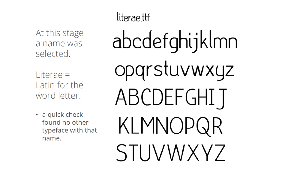 The system is named during the construction process... Literae comes to life!