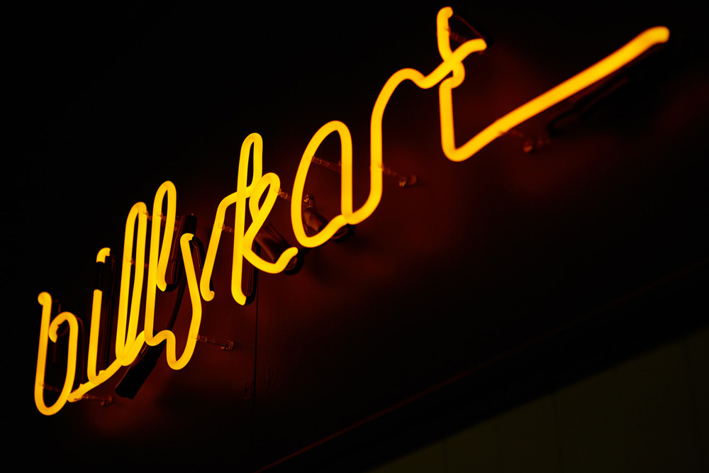 Image of the Annerly BillyKart kitchen sign (also by Michael Blazek) via http://www.billykartkitchen.com/#gallery