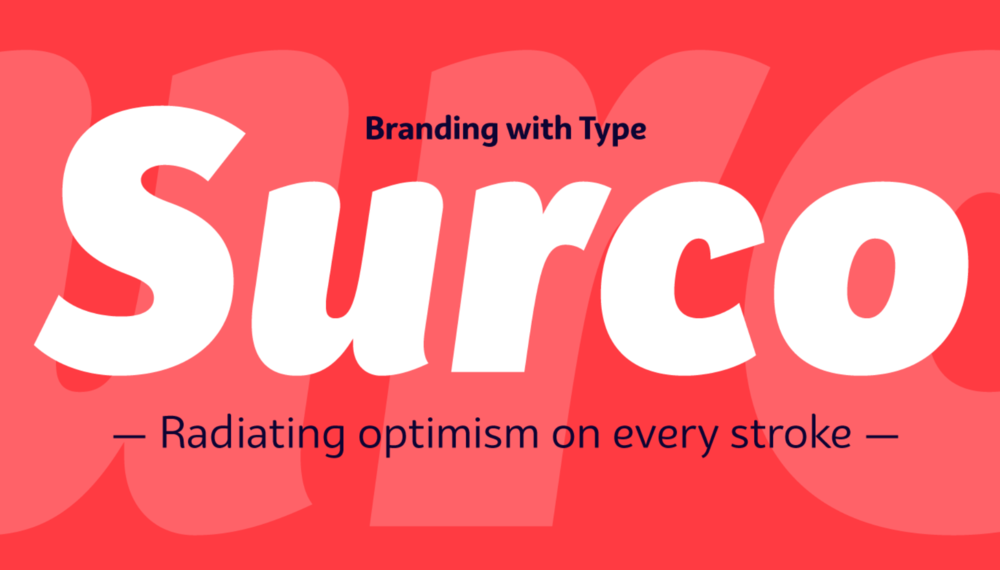 Bw Surco is a fresh and optimistic humanist sans serif with hand-stroke cues. Its soft, rounded shapes, balanced x-height and the contrast between the Roman's and the true italics, all build towards a very practical font family with a friendly and spontaneous personality.