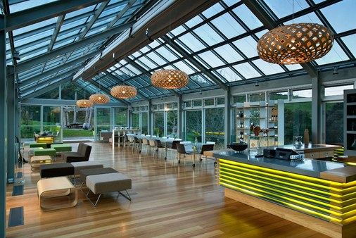 The inside of the Glass House is as impressive as the outside.