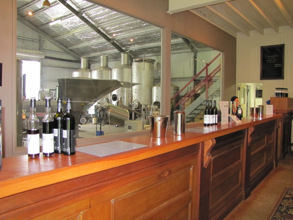 Visitors to the cellar door over vintage can see all the magic happening.