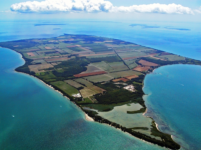 Pelee Island from the air.