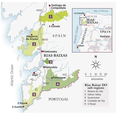 Sub-regions of Rias Baixas