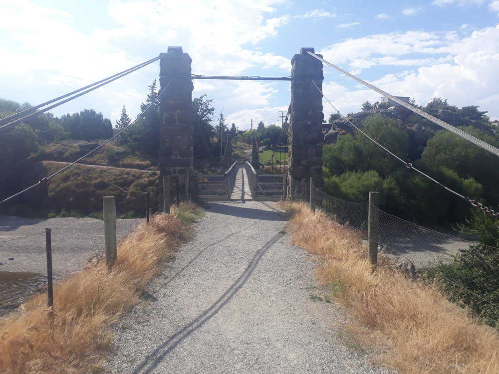 "Across the road from the vineyard - the winery's namesake "" The Shaky Bridge"". Built in 1879."