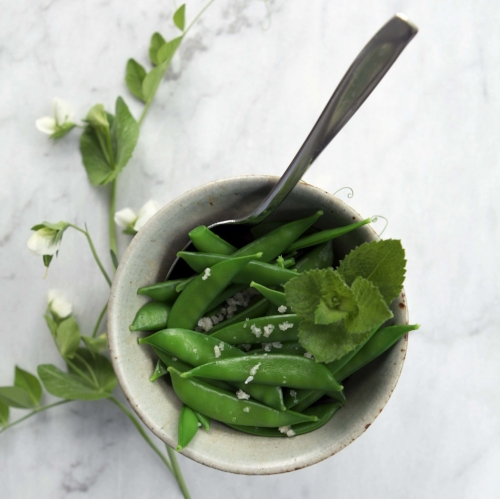 Blanched Peas with Butter and Salt